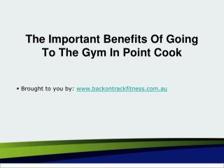 The Important Benefits Of Going To The Gym In Point Cook