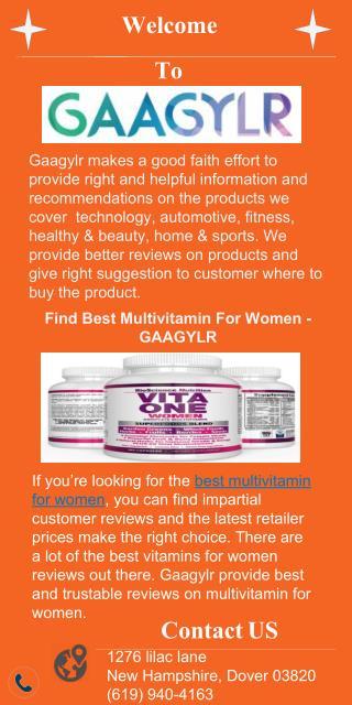 Find best multivitamin for women - Gaagylr