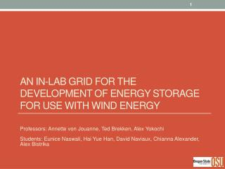 An In-Lab Grid For the Development of Energy Storage for Use with Wind Energy