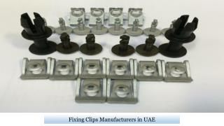Fixing Clips Manufacturers in UAE