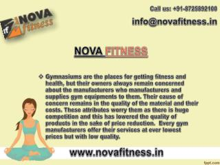 Nova Fitness Offers Its Ever Best Gym Equipment in India Range
