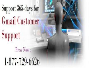 Get Service Everyday 1-877-729-6626 Gmail Customer Support