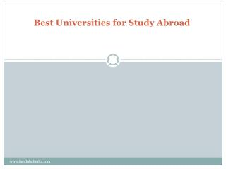 Best Universities for Study Abroad