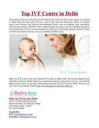 Top IVF Centre in Delhi