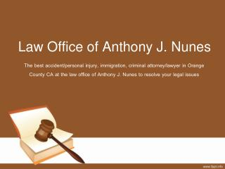 Personal injury lawyer santa ana