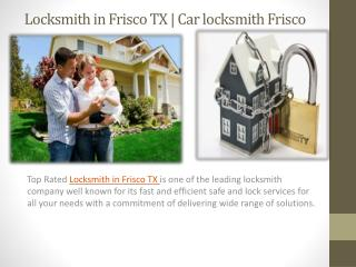 Locksmith in Frisco TX
