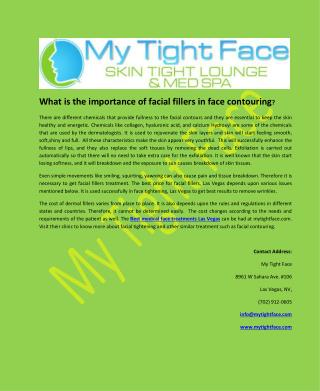 What is the importance of facial fillers in face contouring