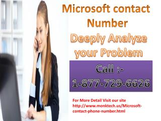 Microsoft cover all the outlook issues call Microsoft Phone Number 1-877-729-6626