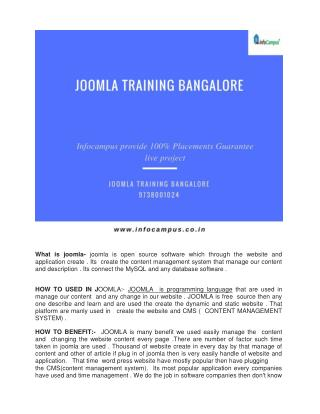 Joomla Training Bangalore