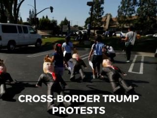 Cross-border Trump protests