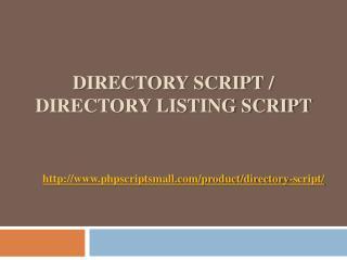 Directory Script / Directory Listing Script