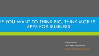 Double Your Sales With Mobile Apps