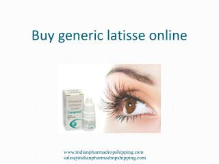 Buy generic latisse online   Wholesale price for bimatoprost