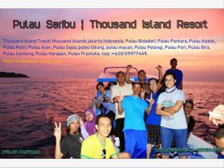 Pulau Seribu   Thousand island Resort Jakarta