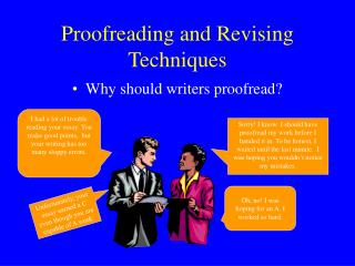 Proofreading and Revising Techniques