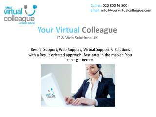 IT Support UK, Web Support UK, Virtual Support UK