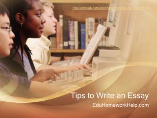 Tips for writing better Essays