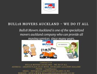 Best Removal Companies Auckland | Bull18 Movers Auckland - We Do It All