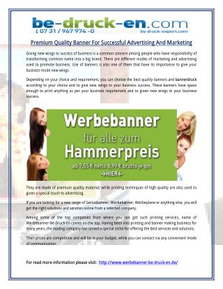 Premium Quality Banner For Successful Advertising And Marketing