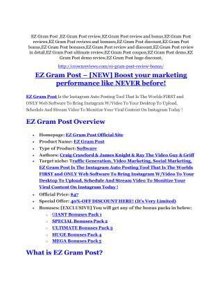 EZ Gram Post review - EZ Gram Post sneak peek features