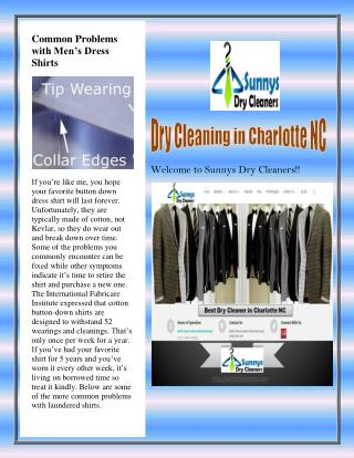 Wedding Dresses and Formal Wear Cleaning Charlotte NC