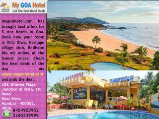 Best Deals on Goa Hotels and Resort