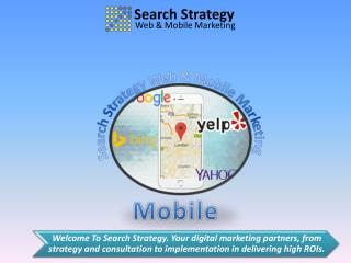 Search  strategy Web & Mobile Marketing