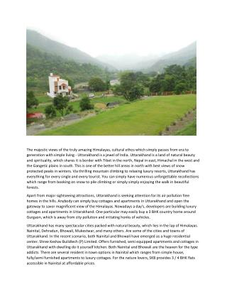 Avail 4 bhk cottages in nainital,stay holiday homes in hills nanital and pollution free homes in hills