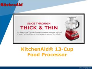 KitchenAid® 13-Cup Food Processor with ExactSlice System