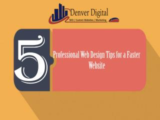 5 Professional Web Design Tips for a Faster Website