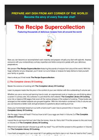 The Recipe Supercollection