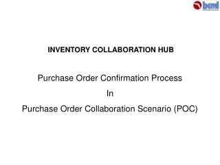 Purchase Order Confirmation Process  In  Purchase Order Collaboration Scenario POC