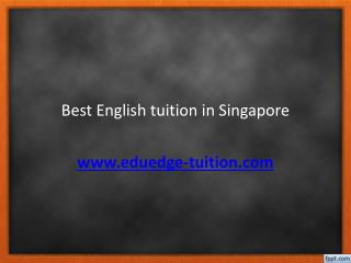 Best English tuition in Singapore