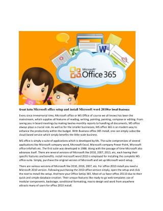 Complete help for install Microsoft office 2013,Office SetUp 365