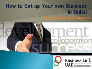 How Setup Your Own Business in Dubai