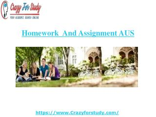 Assignment Help Australia and Homework Help Australia