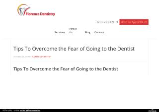 Tips To Overcome the Fear of Going to the Dentist