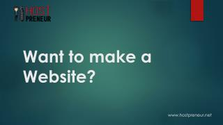 Want to make a website?