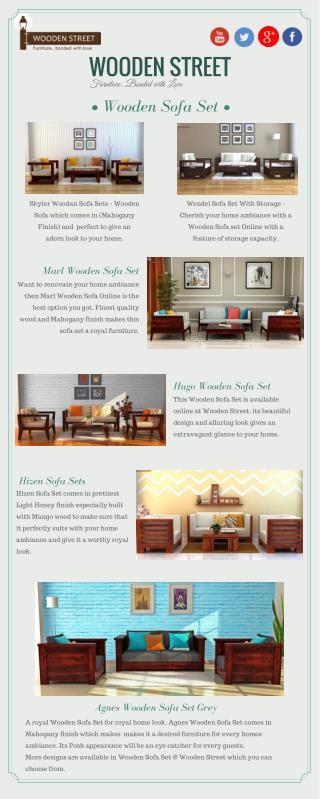 WOODEN SOFA SET – Buy Best Wooden Sofa Sets Online @ Wooden Street