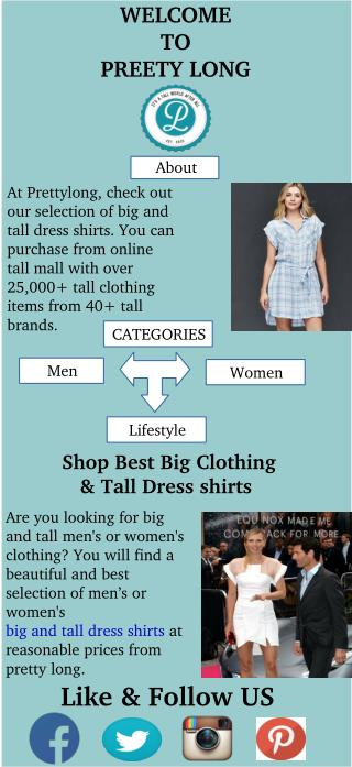 Shop Best Big Clothing & Tall Dress shirts