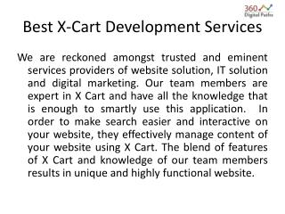 Best X-Cart Development Services