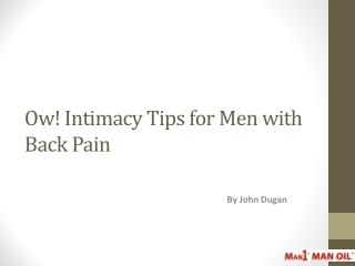 Ow! Intimacy Tips for Men with Back Pain