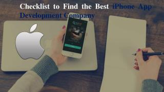 Checklist to Find the Best iPhone App Development Company