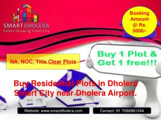 Residential plots for sale in Dholera SIR Smart City