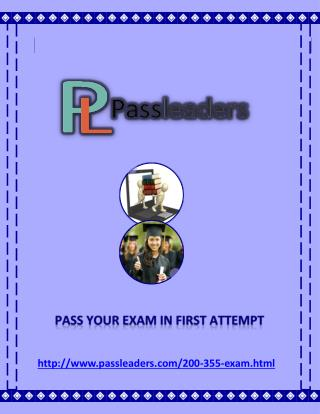 Passleader 200-355 Questions Answers