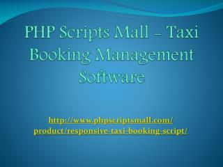 PHP Scripts Mall - Taxi Website Design Company