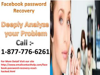 Assist you in creating strong password call 1-877-776-6261 Facebook reset password
