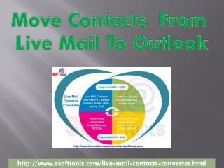 Live Mail contacts conversion