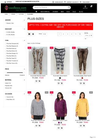 Womens plus size clothing online, Buy sexy plus size dresses online from oxolloxo India