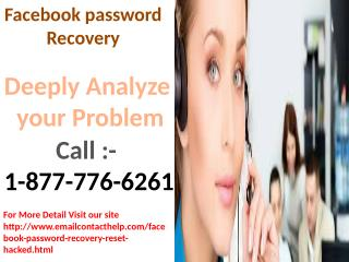 Recover your Facebook forgot password call 1-877-776-6261